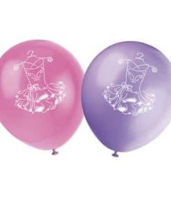 Ballerina Printed Latex Balloons