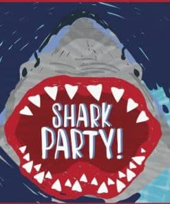 Shark Party Plastic Loot Bags