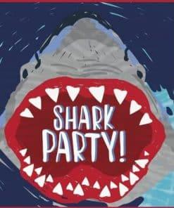 Shark Party Plastic Loot Bags