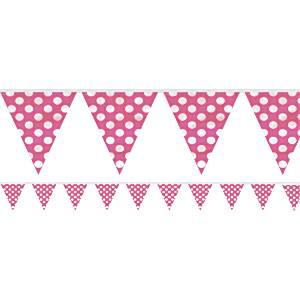Pink Polka Dot Bunting