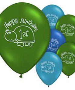 Turtle 1st Birthday Balloons