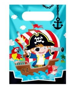 Captain Pirate Party Plastic Loot Bags