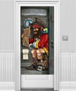 Pirate Captain Bathroom Door Banner & Buy Birthday Party Door Banners - Fun Party Supplies
