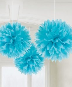 Turquoise Pom Pom Decorations