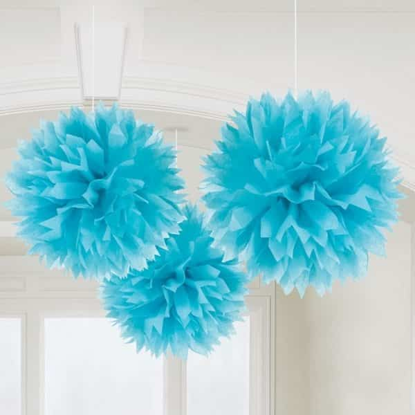 Turquoise Pom Pom Decorations