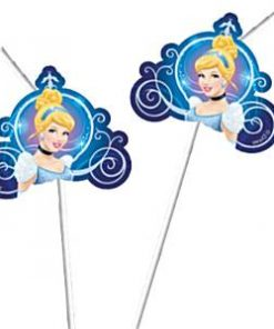 Cinderella Party Drinking Straws