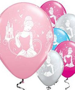 Cinderella Party printed Latex Balloons