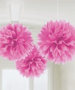 Pink pom Pom Decorations