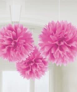 Pink pom Pom Decorations