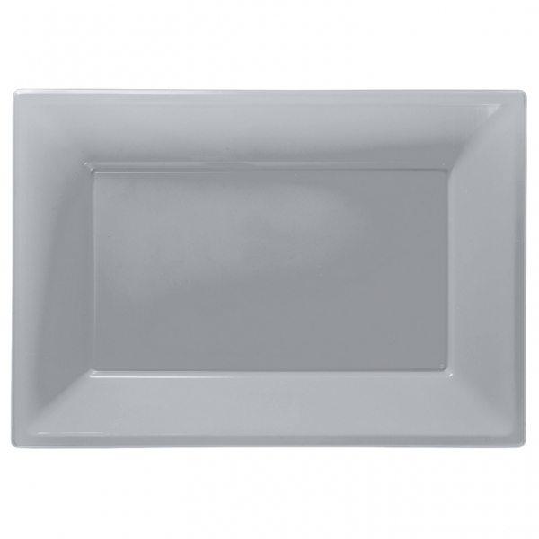 Silver Plastic Platters