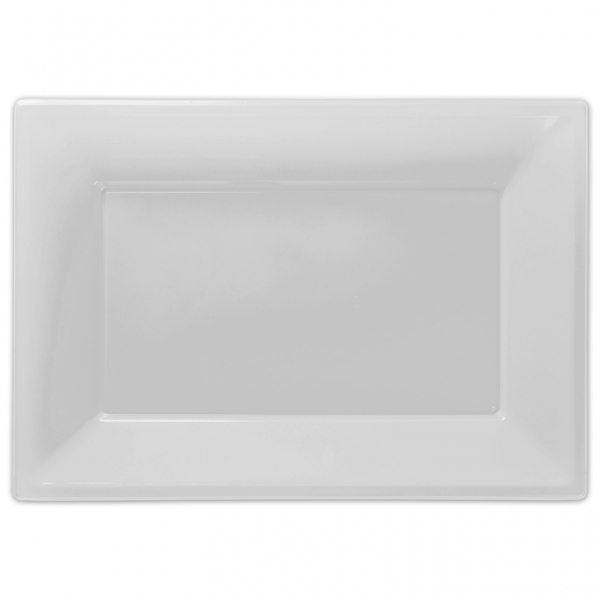 White Plastic Platters