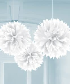 White Pom Pom Decorations