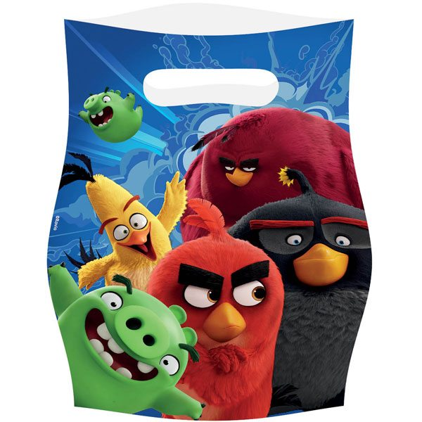 Angry Birds Party Plastic Loot Bags