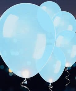 Light Up Blue Latex LED Balloons