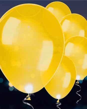 Gold Latex LED Balloons