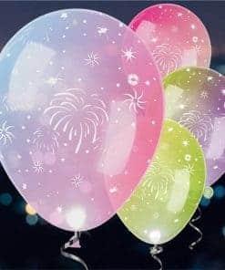 LED Fireworks Latex Balloons