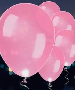 Pink Latex LED Balloons