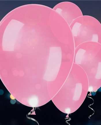 Pink Latex LED Balloons