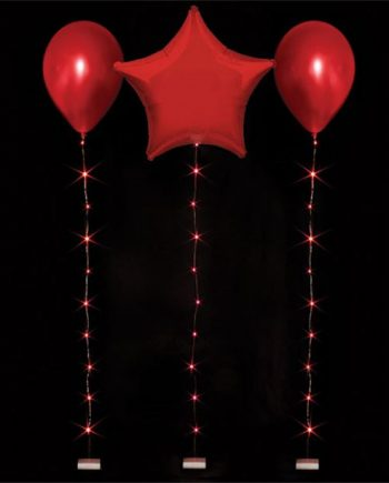 Red Balloon LED String Lights
