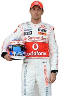 Jenson Button Life Size Cardboard Cut Out