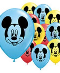 Mickey Mouse Printed Face Latex Balloons