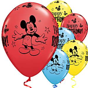 Mickey Mouse Printed Latex Balloons