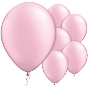 Pink Pearl Latex Balloons