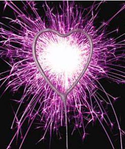 Pink Heart Sparkler
