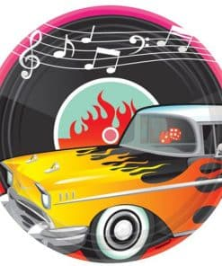 Rock n Roll 50s Classic Paper Plates