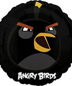 Angry Birds Black Foil Balloon