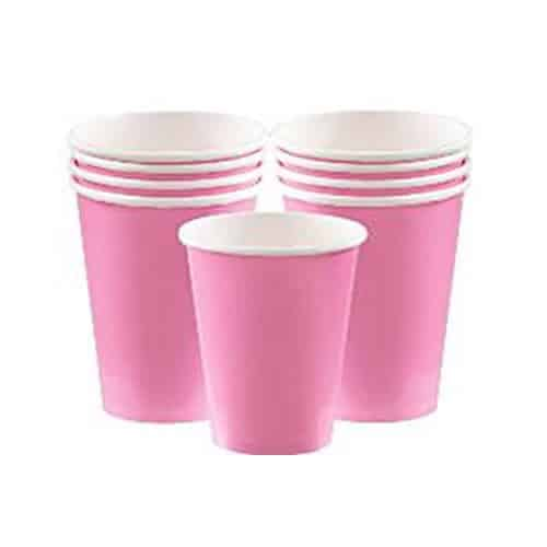 Baby Pink Party Paper Cups