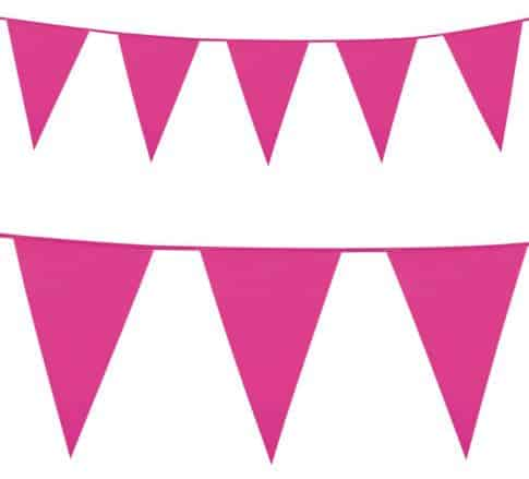 Bright Pink Plastic Bunting