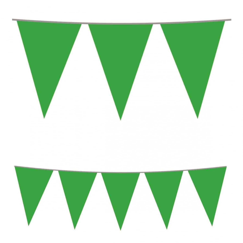 Green Plastic Bunting