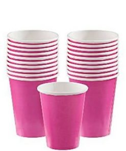 Hot Pink Party Paper Cups
