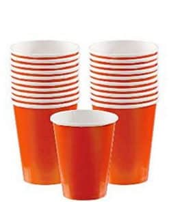 Orange Party Paper Cups