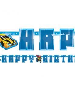 Transformers Party Letter Happy Birthday Banner