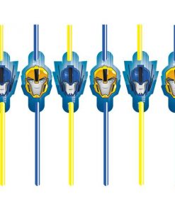 Transformers Party Plastic Straws