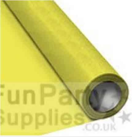 Yellow Paper Table Roll