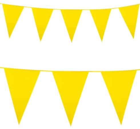 Yellow Plastic Bunting