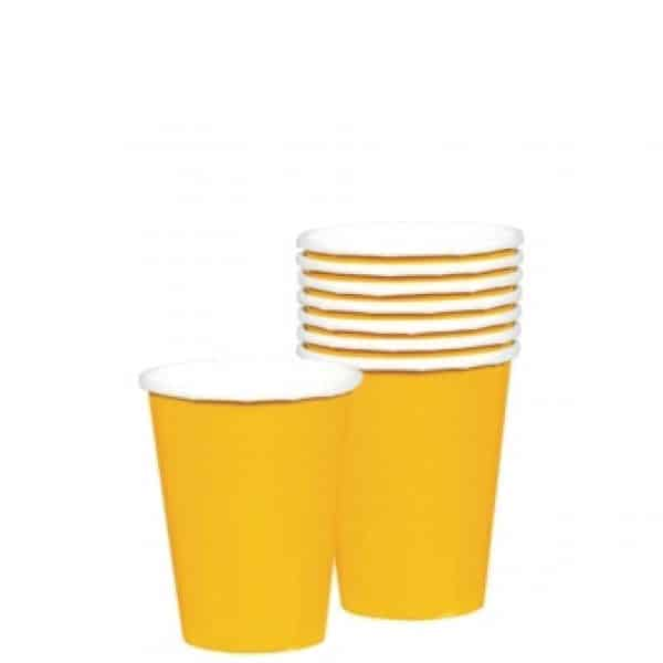 Yellow Party Paper Cups