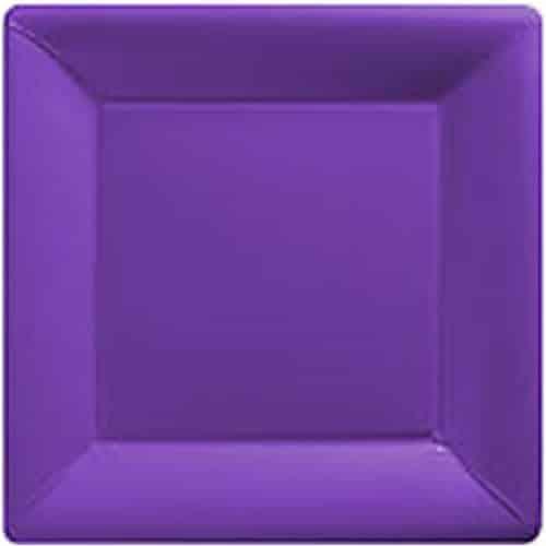 Purple Party Square Paper Plates