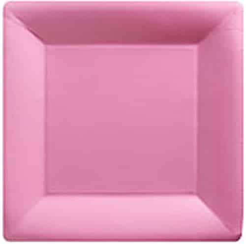 Baby Pink Party Square Paper Plates