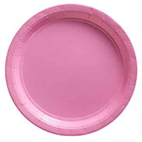 Baby Pink Party Paper Plates