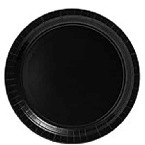 Black Party Paper Plates