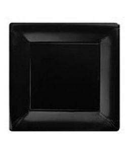Black Square Paper Plates