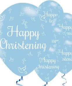 Christening Blue Balloons
