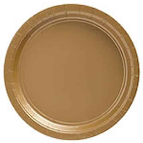 Gold Party Paper Plates