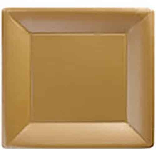 Gold Party Paper Square Plates