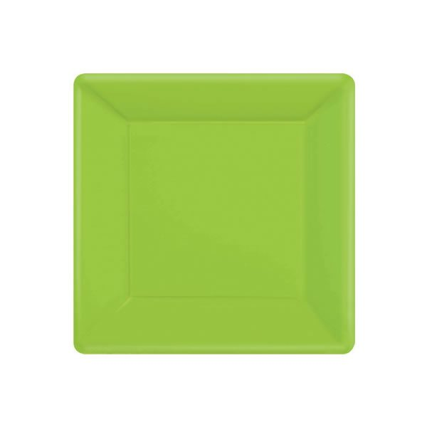 Lime Green Paper Square Plates