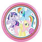 My Little Pony Party Paper Plates - 23cm (Pk 8)
